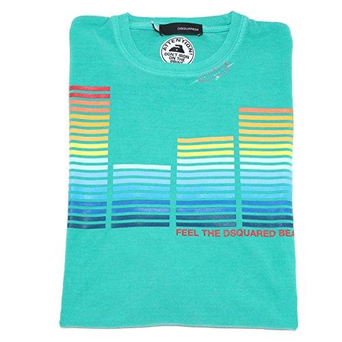 7444F maglia verde DSQUARED D2 COTONE MANICA LUNGA polo uomo t-shirt men [L]