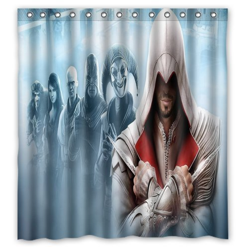 """Unico e Generic Assassin' s Creed doccia tenda personalizzata impermeabile tessuto poliestere bagno tenda 66""""(W) X 72(H) inches-bathroom Decor tenda da doccia"""