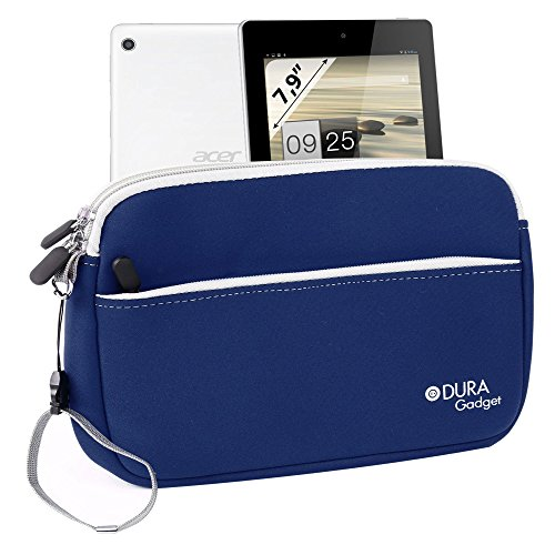 Duragadget Blue Neoprene Cover With Front Storage Pocket For Acer Iconia A1-810-L416 7.9-Inch 16 Gb Tablet