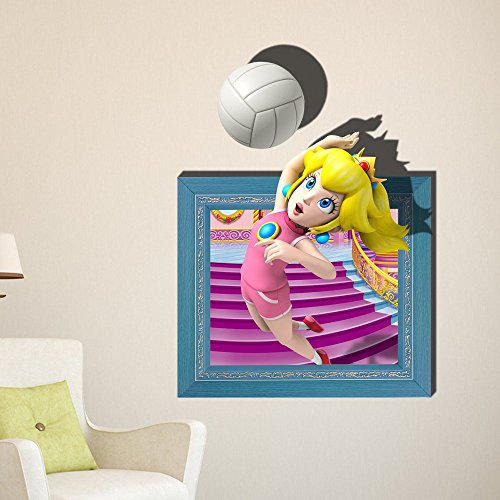 coeus 3d baby kind raum karikatur m dchen spielen volleyball sports wall decals abnehmbare. Black Bedroom Furniture Sets. Home Design Ideas