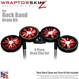 Lightning Red Skin by WraptorSkinz fits Rock Band Drum Set for Nintendo Wii, XBOX 360, PS2 & PS3 (DRUMS NOT INCLUDED)
