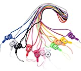 Danyee®安心交換保証付 「全5色」ネックストラップ 長さ40cm 携帯ストラップ フィンガーストラップ (ヴラック)