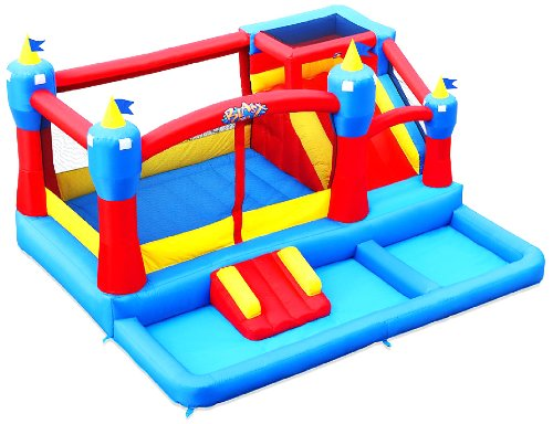 Great Features Of Blast Zone Misty Kingdom Inflatable Bouncer - Water Park with Slide by Blast Zone