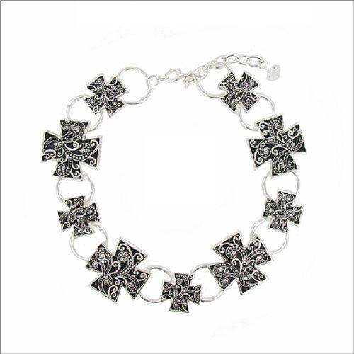 Designer Texture Cross Boot Jewelry #038803