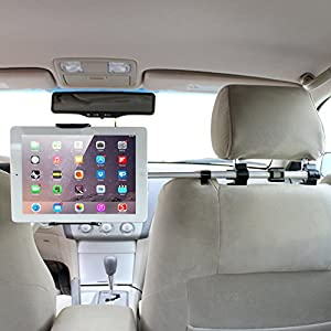 iKross Universal Tablet Car Backseat Headrest Extendable Mount Holder For 7 - 10.2inch Tablet