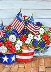 Toland Home Garden 119616 Patriotic Pansies Garden Flag