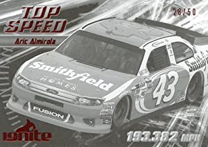Buy 2012 Press Pass Ignite Racing Aric Almirola Black Proof Parallel Card #63 by Ignite
