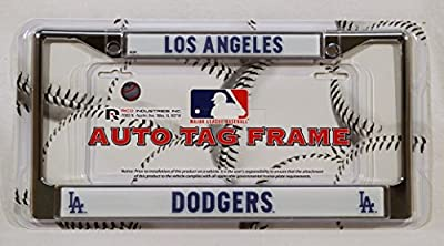 Rico Industries MLB Chrome License Plate Frame, Los Angeles Dodgers