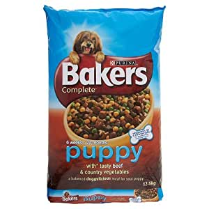 Bakers Complete Puppy and Junior with Tasty Beef and Country Vegetables Dog Food 12.5 kg