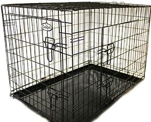 easipet cage de transport pour chien 121 x 75 x 82 cm noir animalerie. Black Bedroom Furniture Sets. Home Design Ideas
