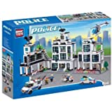 Brictek Police Station Headquarters Building Block Set - Over 1200 Pieces