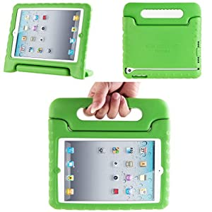 i-Blason ArmorBox Kido Series for Apple iPad Mini Light Weight Super Protection Convertable Stand Cover Case (Green)