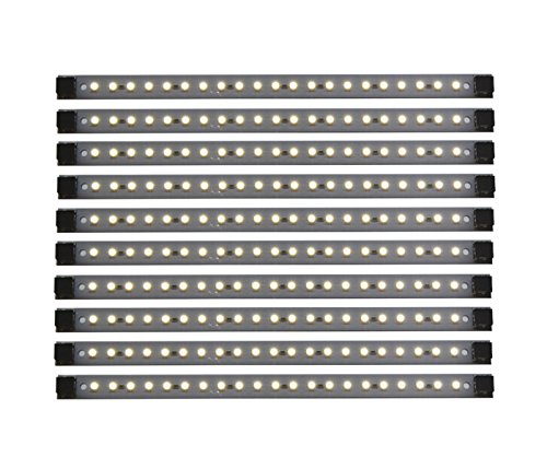 LED Under Cabinet Light | Pro Series 10 Panel Pack | Inspired LED | 24 Watts 12V DC | Pure White ~4200 K 135 lm/ft (Low Profile Cabinet Lights compare prices)