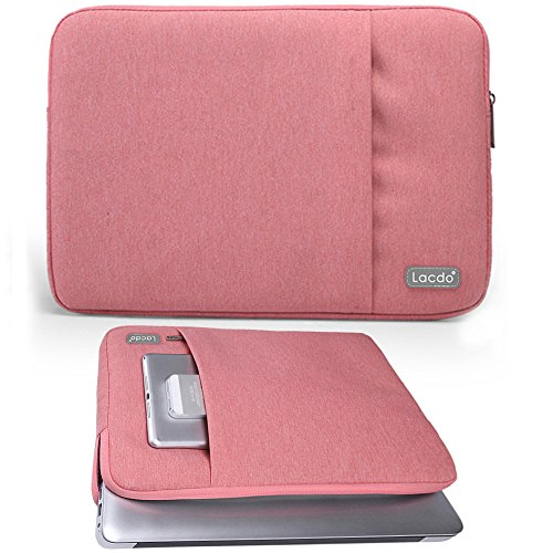 07. Lacdo Waterproof Laptop Sleeve Case Notebook Bag For MacBook Air 11.6-Inch, New Macbook 12 Inch Ultrabook Acer, Asus, Dell, Toshiba Chromebook, Pink