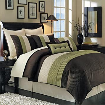 Sage, Olive and Hunter Green Bedroom Decorating Ideas