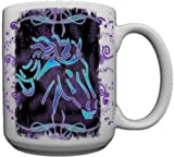 Tribal Horse Custom Coffee Mug CERAMIC from Redeye Laserworks
