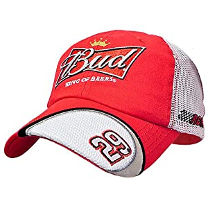 #29 Kevin Harvick 2012 Budweiser Old School Team Mesh Hat - by Brickels