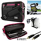 Executive Travel Carrying Bag, Messenger Bag & Backpack For Apple iPad Air 2 [New iPad Air] [iPad Air 2 Case] + Auxiliary + Windshield Car Mount