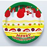 紙皿8枚入 クリスマスケーキ