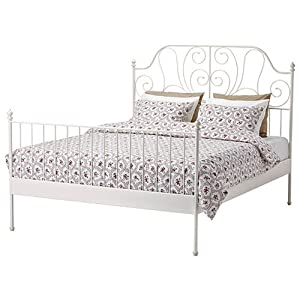 Amazon Ikea Leirvik Bed Frame White Queen Size Iron
