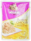 Whiskas Purrfectly Chicken in Natural Juices Food for Cats, 3-Ounce Pouches (Pack of 24)