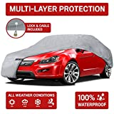 "Motor Trend 4-Layer 4-Season (Waterproof Outdoor UV Protection for Heavy Duty Use Full Cover for Cars up to 210"")"