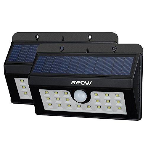 2-Pack-20-Lampe-Solaire-Jardin-led-sans-fil-Mpow-Luminaire-Exterieur-Dtecteur-de-Mouvement-avec-Trois-Modes-Intelligents-Eclairage-Exterieur-Rsistant-aux-Intempries-Luminaire-mural-Spot-Exterieur-Pour