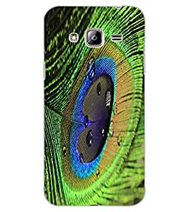 ColourCraft Peacock Feather Design Back Case Cover for SAMSUNG GALAXY J3