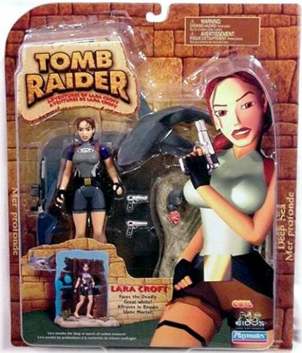 Picture of Playmates Lara Croft Action Figure Faces the Deadly Great White! - Tomb Raider: Adventures of Lara Croft Deep Sea Adventure Playset (B000QS6GF4) (Playmates Action Figures)