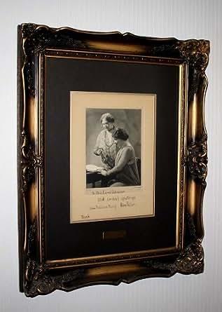 BEST Signed HELEN KELLER & Sullivan Autograph, MURAY Photo, Frame, COA, UACC