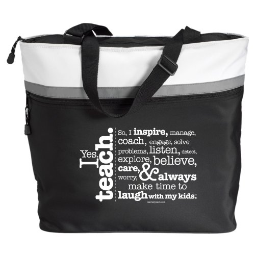 Teacher Peach I Teach Jumbo Tote - The PERFECT Gift for Teachers!