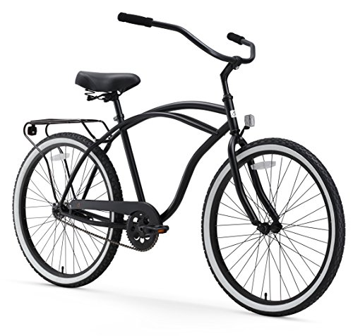 sixthreezero-Around-The-Block-Mens-26-Inch-Single-Speed-Cruiser-Bike-Matte-Black-18-One-Size