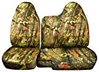 1998 to 2003 Ford Ranger/Mazda B-Series Camo Truck Seat Covers (60/40 Split Bench) - No Armrest/Console: Brown Real Tree Camo (16 Prints Available)