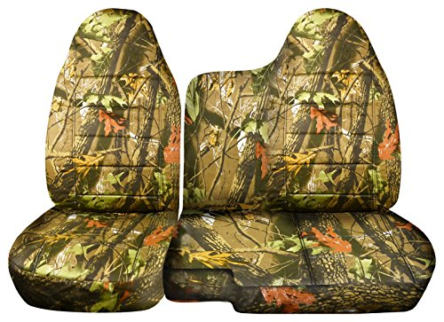 2004 to 2012 Chevrolet Colorado/GMC Canyon Camo Truck Seat Covers (60/40 Split Bench) No Armrest: Brown Real Tree Camo (16 Prints) (Real Tree Truck Seat Covers compare prices)
