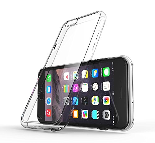 "QuGi® Air Cushioned Transparent Hybrid Bumper Case for the Apple iPhone 6 (4.7in) ?Crystal Clear ""Liquid Skin"" Smartphone Accessory ?Ultra Slim Cell Phone Protection That Increases Grip To Prevent Dro"