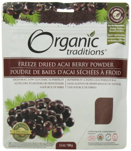 Organic Traditions Freeze Dried Organic Powder, Acai Berry, 3.5 Ounce (Organic Freeze Dried Acai Powder compare prices)