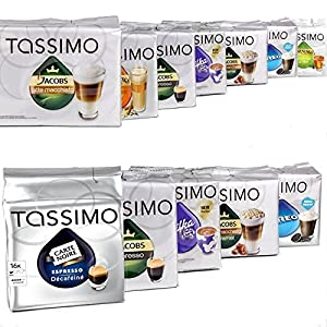 Find MEGA VALUE Tassimo Assortment Pack Containing 24 Factory Sealed Coffee / Tea / Chocolate Drinks Pods by Tassimo