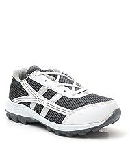 Castel Men's White Grey Mesh Eva Resin Sports Shoes