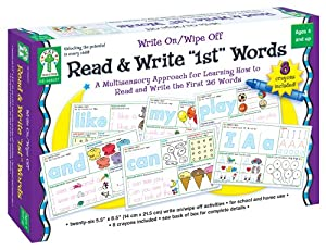 "Write On/Wipe Off: Read & Write ""1st"" First Words"