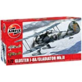 Airfix 1:72 Gloster Gladiator MkIII J8A Aircraft Model Kit