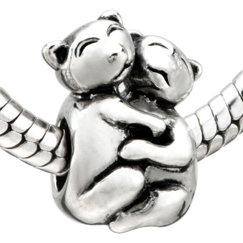 Pugster Jewelry Cute Cats Bead - Pandora Charm & Bracelet Compatible