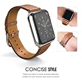 MoKo-Apple-Watch-Correa-SERIES-2-1-Correa-42mm-Simple-Tour-Reemplazo-SmartWatch-Band-de-Reloj-Cuero-Autntico-Imitado-Pulsera-Accesorios-para-Apple-Watch-42mm-Marrn-NO-APTA-PARA-Apple-Watch-38mm