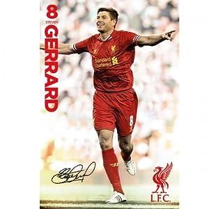 Liverpool FC. Steven Gerrard Poster by Liverpool F.C.