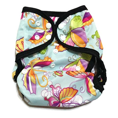 One Size Fit Most - Diaper Covers For Prefolds/Regular Inserts Pul - Butterflies