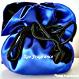 Satin Jewellery Gift Bag (Blue & Black drawstring Jewellery Pouch)