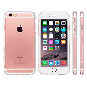Highend berry iPhone6s iPhone6 4.7インチ 落下防止 用 ストラップ ホール 付き 保護キャップ 一体型 ソフト TPU ケース ストラップ 付き クリア