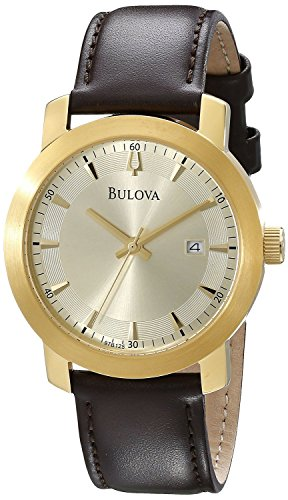 Bulova Men'S 97B125 Analog Display Analog Quartz Brown Watch
