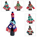 Christmas Hat and Scarf Wine Bottle Cover