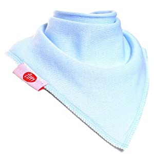 Zippy Fun Bandana Dribble Bibs for Baby Boys and Toddlers (Baby Blue and White set) (Pack of 4) de BabyCenter