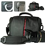 BDV0301 First2savvv Black Digital SLR Camera Bag Holster Case for SONY DSC-HX300 CASIO EX-FH20 EX-F1 EXILIM EX-FH25 OLYMPUS SP-810UZ
